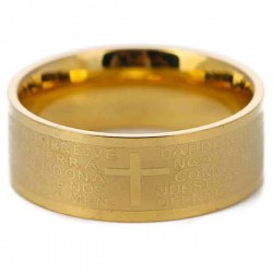 Cincin Salib Golden Padre Ring