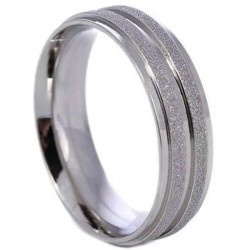 Cincin Unisex Double Stripe Ring