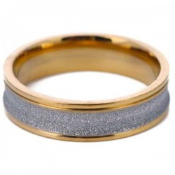 Cincin Unisex Gold Sparkle Ring