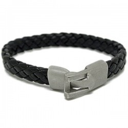Gelang Kulit Black Lockey