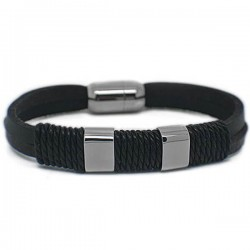 Gelang Kulit Black Pillar Lonet