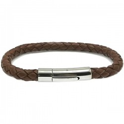 Gelang Kulit Brown Tecto