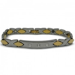 Gelang Tungsten Twisted Gold