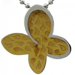 Kalung Animalia Gold Butterfly Leaf