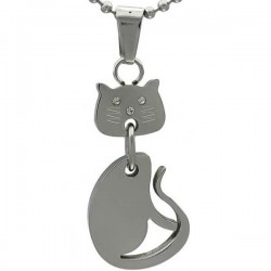 Kalung Animalia Silver Kitty