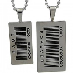 Kalung Couple Bar Code