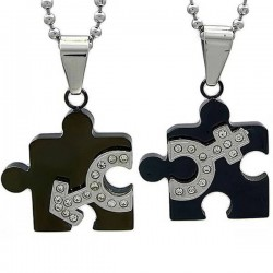 Kalung Couple Black Code Puzzle