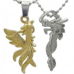 Kalung Couple Dragon Phoenix Gravita