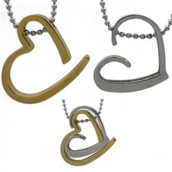 Kalung Couple SilverGold love