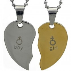 Kalung Couple SilverGold Sign