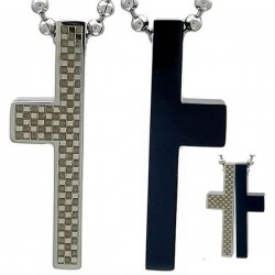 Kalung Couple Boxy Cross