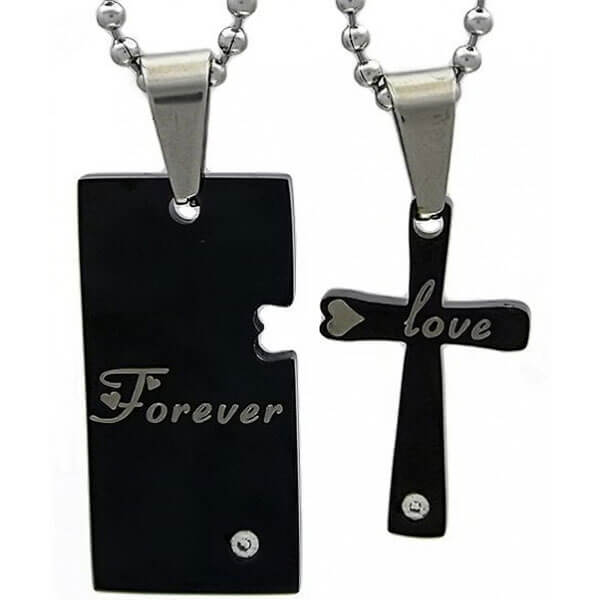 Kalung Couple Forever Love Cross