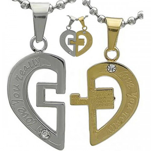 Jual Kalung Couple Love You Really Cross Jual Kalung Couple Jual Kalung