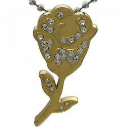 Kalung Gold Diamond Rose