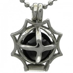 Kalung Gothic Black Fire Ball