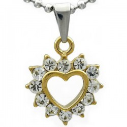 Kalung GoldHeart Diamond