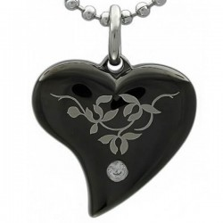 Kalung Kalung Gothic Heart Leaf