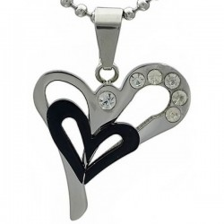Kalung Silver Black Love