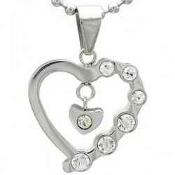 Kalung Silver Diamond Lover