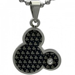 Kalung Black Platted Mickey