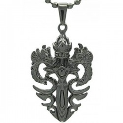 Kalung Naga White Double Dragon Sword