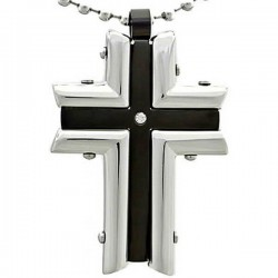 Kalung Salib Black Modern Cross