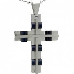 Kalung Salib Black Wheel Cross
