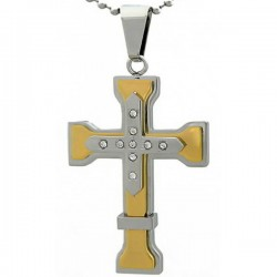 Kalung Salib Gold Plus Cross