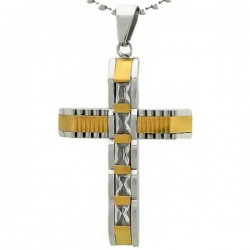 Kalung Salib Gold Railed Cross