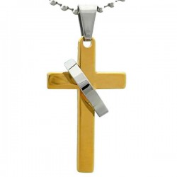 Kalung Salib Kalung Gold Ring Cross