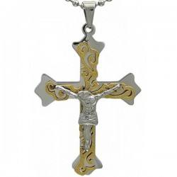 Kalung Katolik Gold Azuri Cross