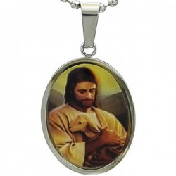 Kalung Katolik Oval Good Shepherd