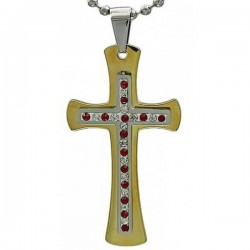 Kalung Salib Red Huliu Cross