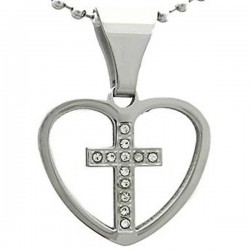 Kalung Salib Silver Love Cross