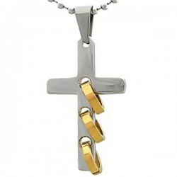 Kalung Salib Three Gold Cross
