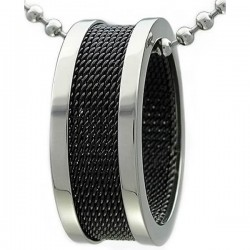 Kalung Black Ring Rounded
