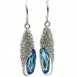 Anting Swarovski Blue Bees