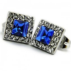 Anting Swarovski Blue Savira