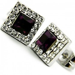 Anting Swarovski Purple Savira